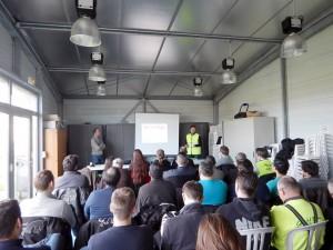 Olivier et Damien à la présentation du CPM Pilote et commissaire de piste - Photo : Pascal