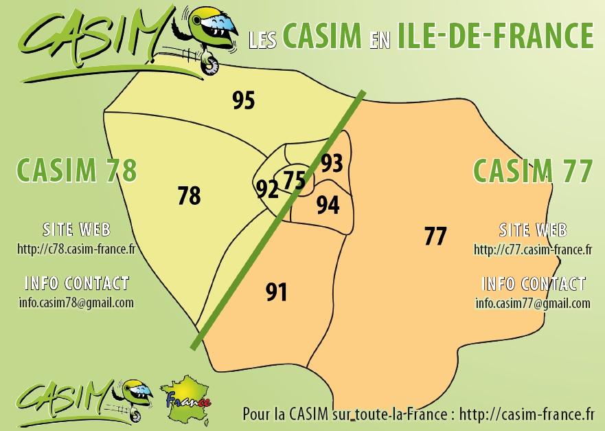 Les CASIM en Ile de France